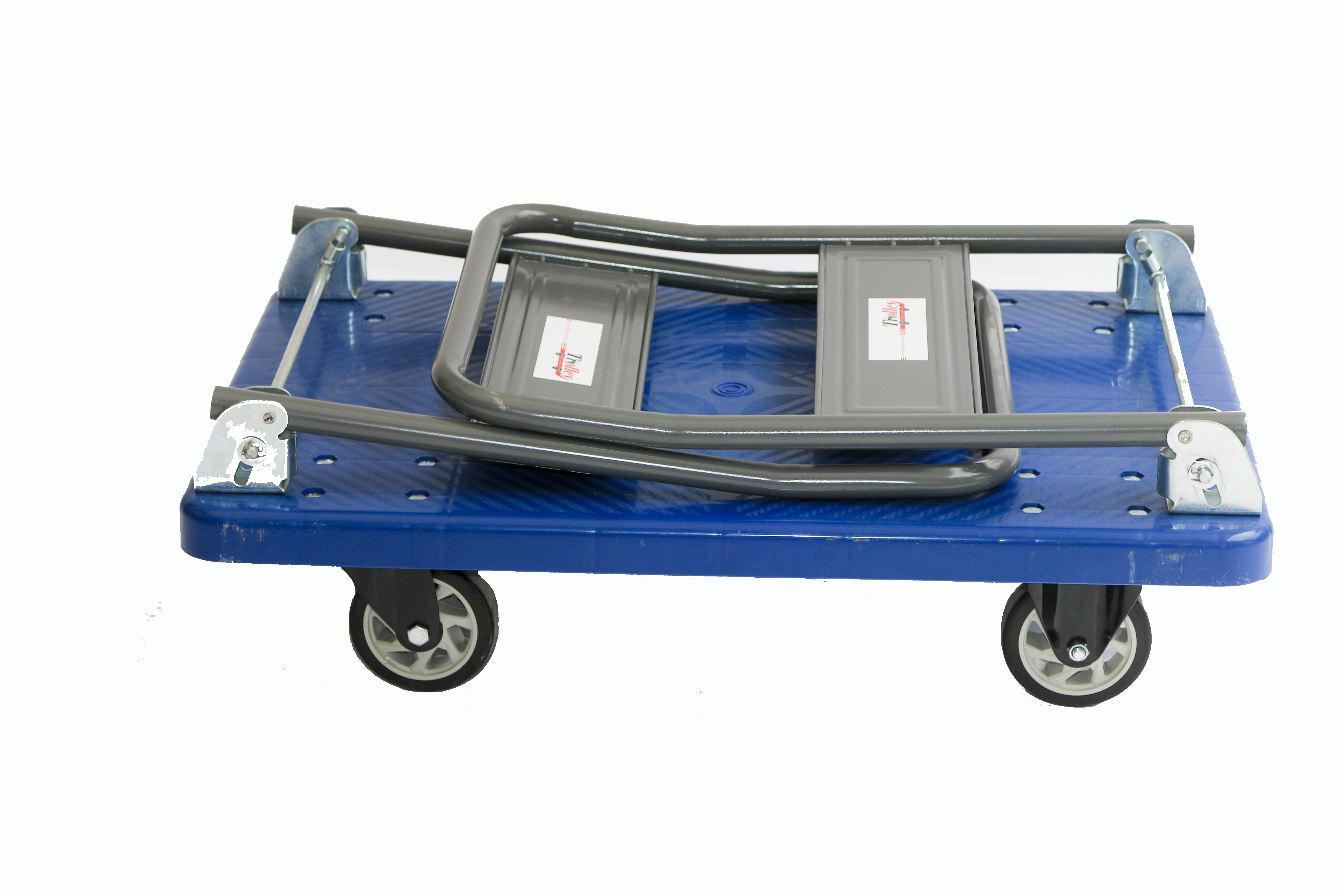 The flatbed trolley with foldable handles